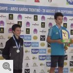 Harold Peeters, Vice-Champion du monde en catégorie Youth B à Arco<br />© IFSC-TV