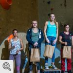 Le podium dames de la 100sations blocs 6.1<br/>© M. Timmermans